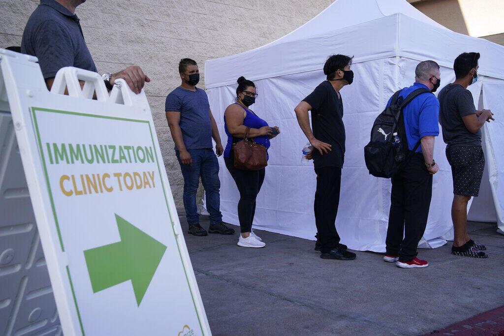 Một trung tâm tiêm chủng tại chợ La Bonita, Las Vegas, Hoa Kỳ, ngày 07/07/2021.