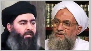 ប្រមុខអង្គការរដ្ឋអ៊ីស្លាម Abu Bakr al-Baghdadi និងប្រមុខអង្កការអាល់កៃដា Ayman Zawahiri