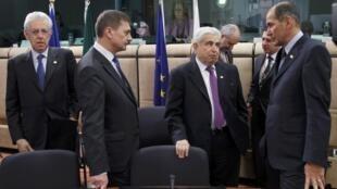 European Union leaders attend a European Union leaders summit in Brussels