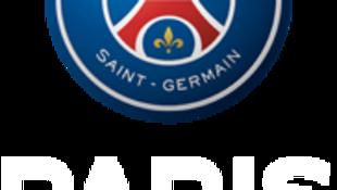 Emblema do PSG, equipa de futebol parisiense, que passou a liderar, provisoriamente, a Liga I