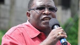 Louis Gaston Mayila, président du parti d'opposition gabonais l'Union pour une nouvelle république (UPRN),