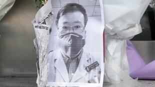 因新冠病毒殉職的武漢中心醫院李文亮醫生 攝於2020年2月7日