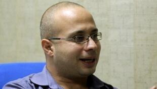 L'opposant Ahmed Maher, en octobre 2011, au Caire.