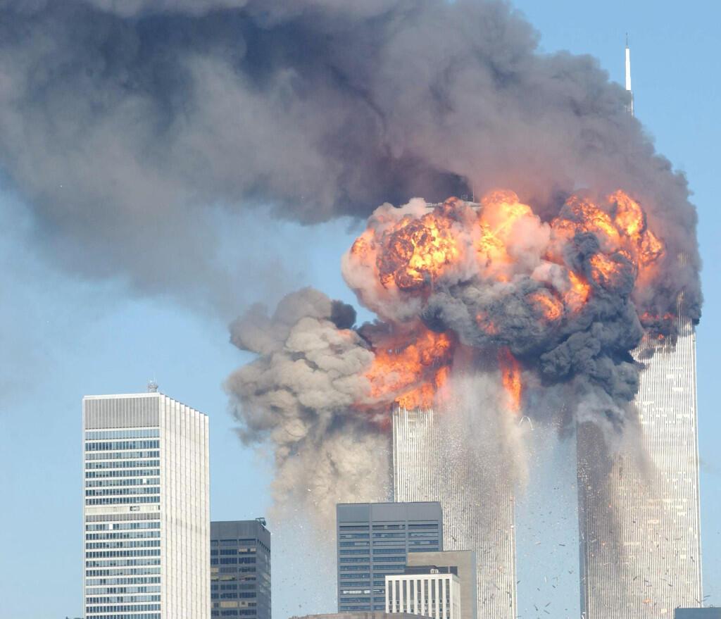 L'attaque des tours du World Trade Center, à New York, le 11 septembre 2001.