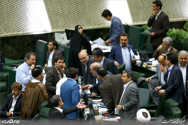 گوشهای از صحن علنی  مجلس شورای اسلامی. چهارشنبه ۷ شهریور ۱۳۹۷ / ٢٩ اوت ٢٠۱٨