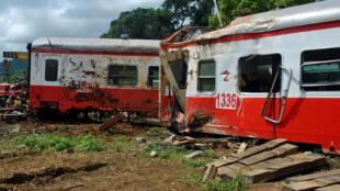 Le déraillement d'un train Yaoundé-Douala a coûté la vie à 79 personnes, le 21 octobre 2016.