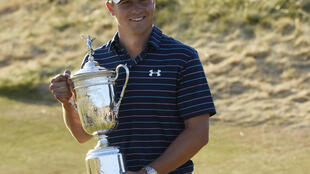 Jordan Spieth won his first US Open trophy two months after taking the Masters
