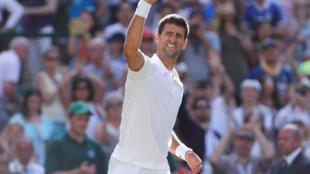Novak Djokovic in Wimbledon
