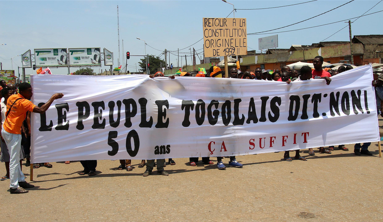 Manifestation de l'opposition à Lomé le 20 septembre 2017 (photo d'illustration).