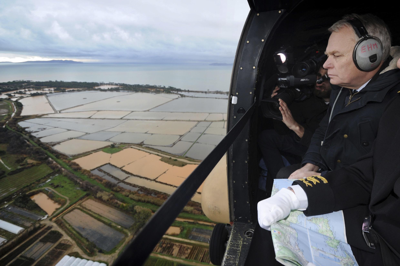 Премьер-министр Франции Жан-Марк Эро в в департаменте Вар