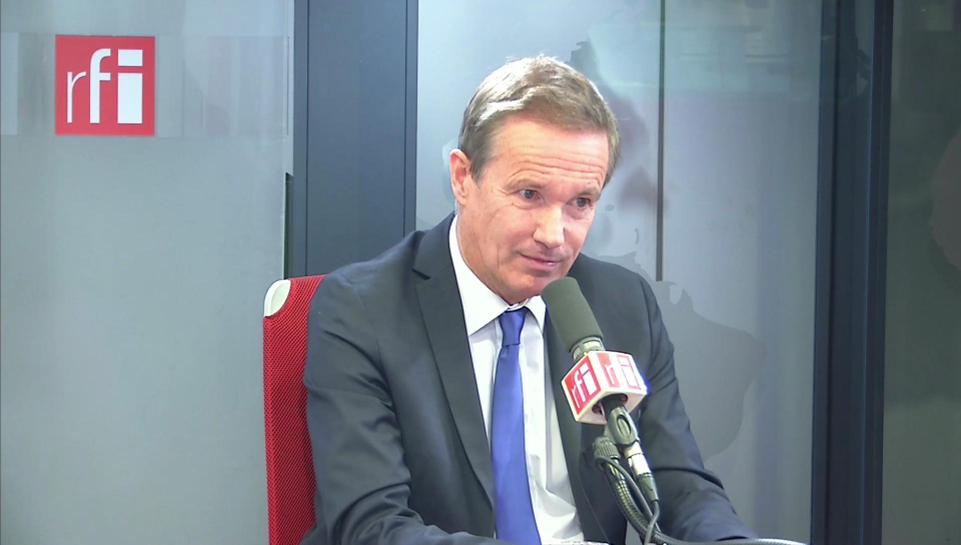 Nicolas Dupont-Aignan sur RFI le 3 décembre 2019.