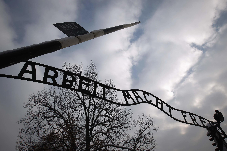Ворота концлагеря Освенцим