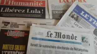 Primeiras páginas dos jornais franceses de 08 de abril de 2019