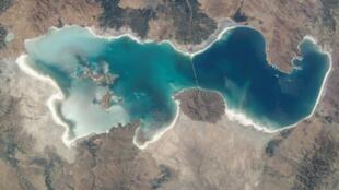 تصویر هوایی از محدوده دریاچه ارومیه