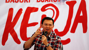 "Jakarta Governor Basuki ""Ahok"" Tjahaja Purnama speaks while campaigning for the upcoming election for governor in Jakarta, Indonesia November 15, 2016."