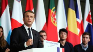 Tổng thống Pháp phát biểu tại đại học Sorbonne, Paris ngày 26/09/2017.