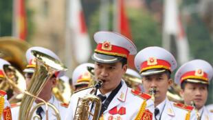 Đội quân nhạc của Việt Nam tại phủ chủ tịch, Hà Nội, ngày 16/01/2017