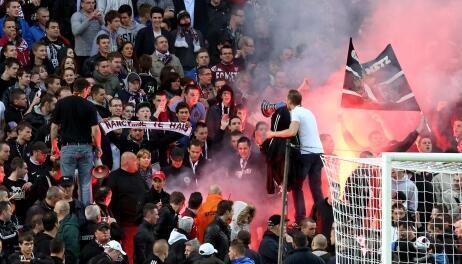 Torcedores do FC Metz, da França.