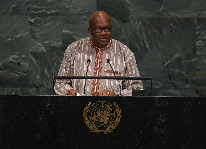 Burkina Faso President Roch Marc Christian Kaboré at the UN in September