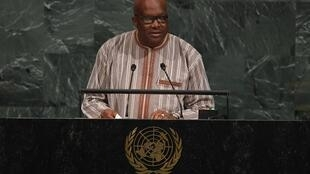 Burkina Faso President Roch Marc Christian Kaboré at the UN in September