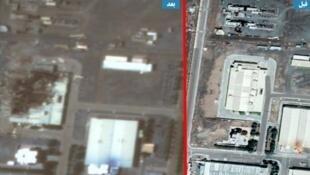 تصویر ماهوارهای از مرکز اتمی نطنز قبل و بعد از انفجار روز پنجشنبه ١٢ تیر ١٣٩٩ / ٢ ژوئیه ٢٠٢٠
