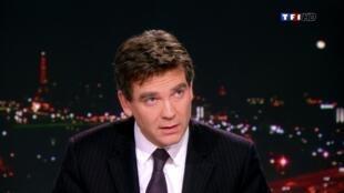 Arnaud Montebourg, le 1er décembre 2012, sur le plateau du journal de 20 heures de TF1.