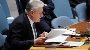 Постоянный представитель Украины Владимир Ельченко на заседании Совбеза ООН 26 ноября 2018.