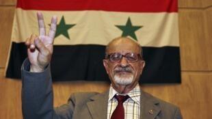 L'opposant syrien Haytham al-Maleh.