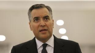 Le Premier ministre libanais Mustapha Adib le 26 septembre 2020 après avoir annoncé qu'il renonçait à former un gouvernement.