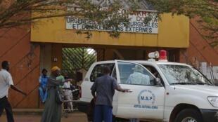 Госпиталь в Гвинее, где проводидили лечение пациентов с вирусом Эбола, 28 марта 2014 года