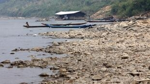 Le Mékong près de la frontière entre le Laos et la Thailande, dans la province thailandaise de Chiang Rai au nord de Bangkok.