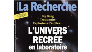 Couverture de la Recherche du mois de décembre 2015.