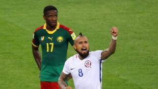 Arturo Vidal a inscrit le premier but du Chili, victorieux du Cameroun (0-2) pour le premier match des deux équipes dans la Coupe des confédérations 2017.