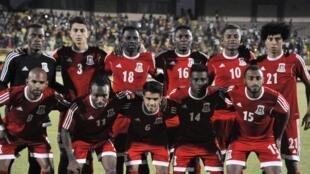 L'équipe de Guinée équatoriale, en mars 2016.