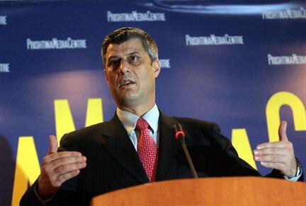 Prime Ministan Kosovo, Hashim Thaçi.
