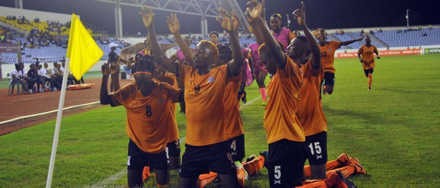 Wachezaji wa timu ya taifa ya Zambia wakisherehekea ushindi dhidi ya Equitorial Guinea wa mabao 5-0 Novemba 18 2018