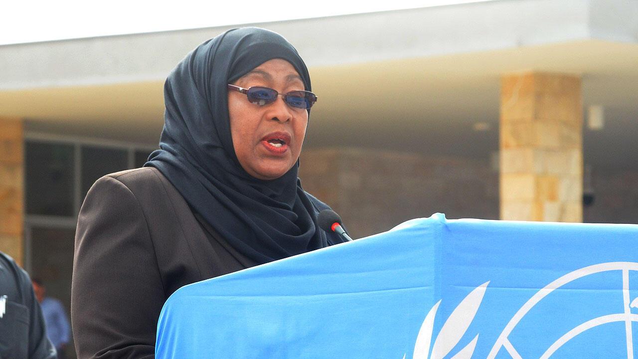Makamu wa rais wa Tanzania Samia Suluhu Hassan