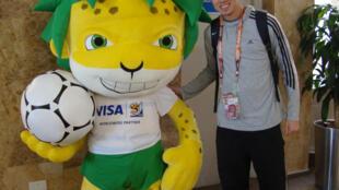 Lucas, voluntário da Copa.