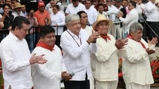 Andrés Manuel Lopez Obrador en una ceremonia, el 16 de diciembre.
