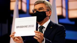 IOC president Thomas Bach announced Brisbane as 2032 Olympics host