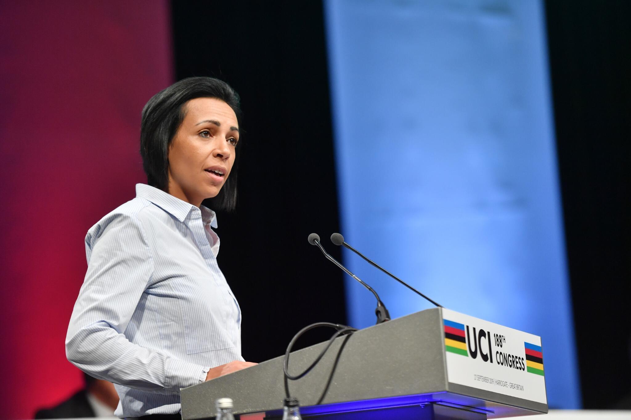 Amina Lanaya, Directrice générale de l'Union Cycliste Internationale.