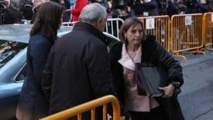 Carme Forcadell chega à Suprema Corte de Madri (9/11/17).