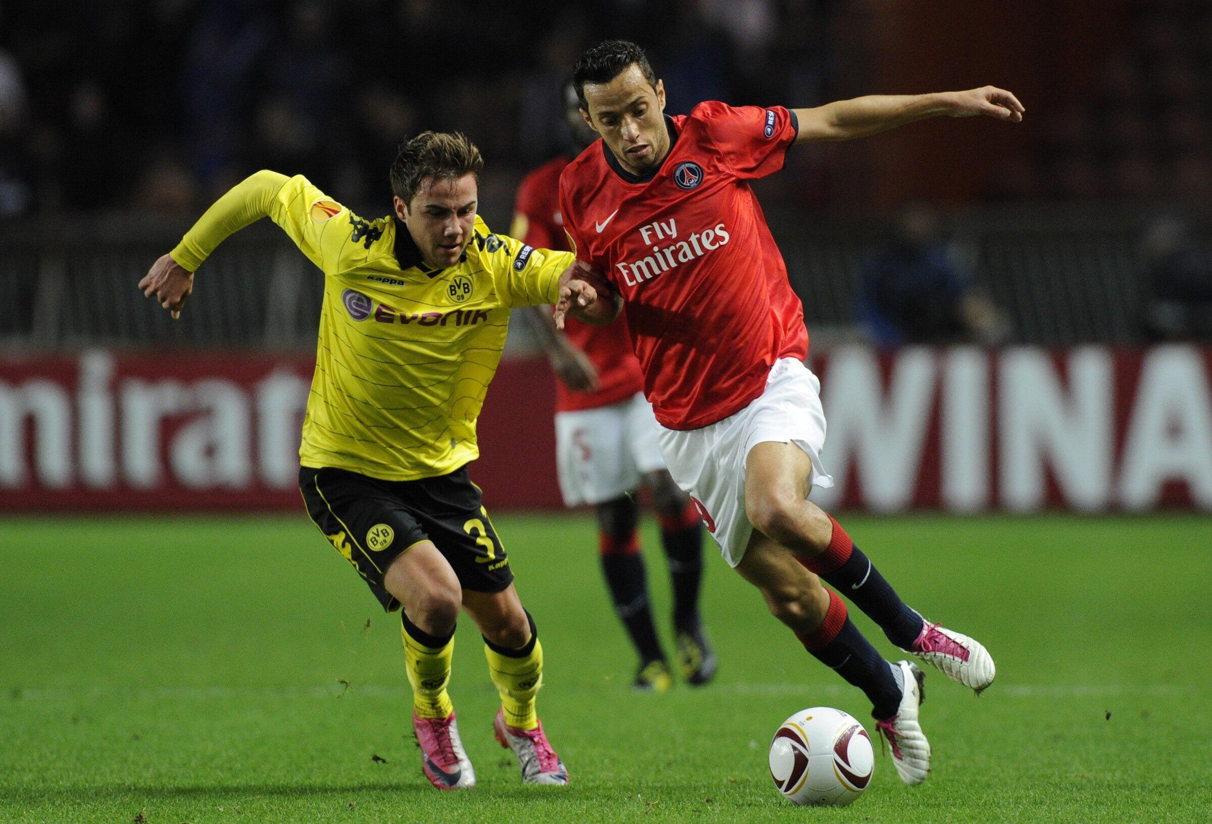 Le Brésilien Nenê, ici face à Götze, a démontré tout son talent durant 70 mn.