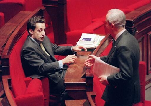 Nicolas Sarkozy and Edouard Balladur at the Assemblée Nationale in Paris in 1995.