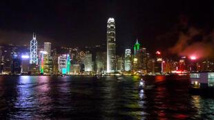 香港一夜景 资料照片