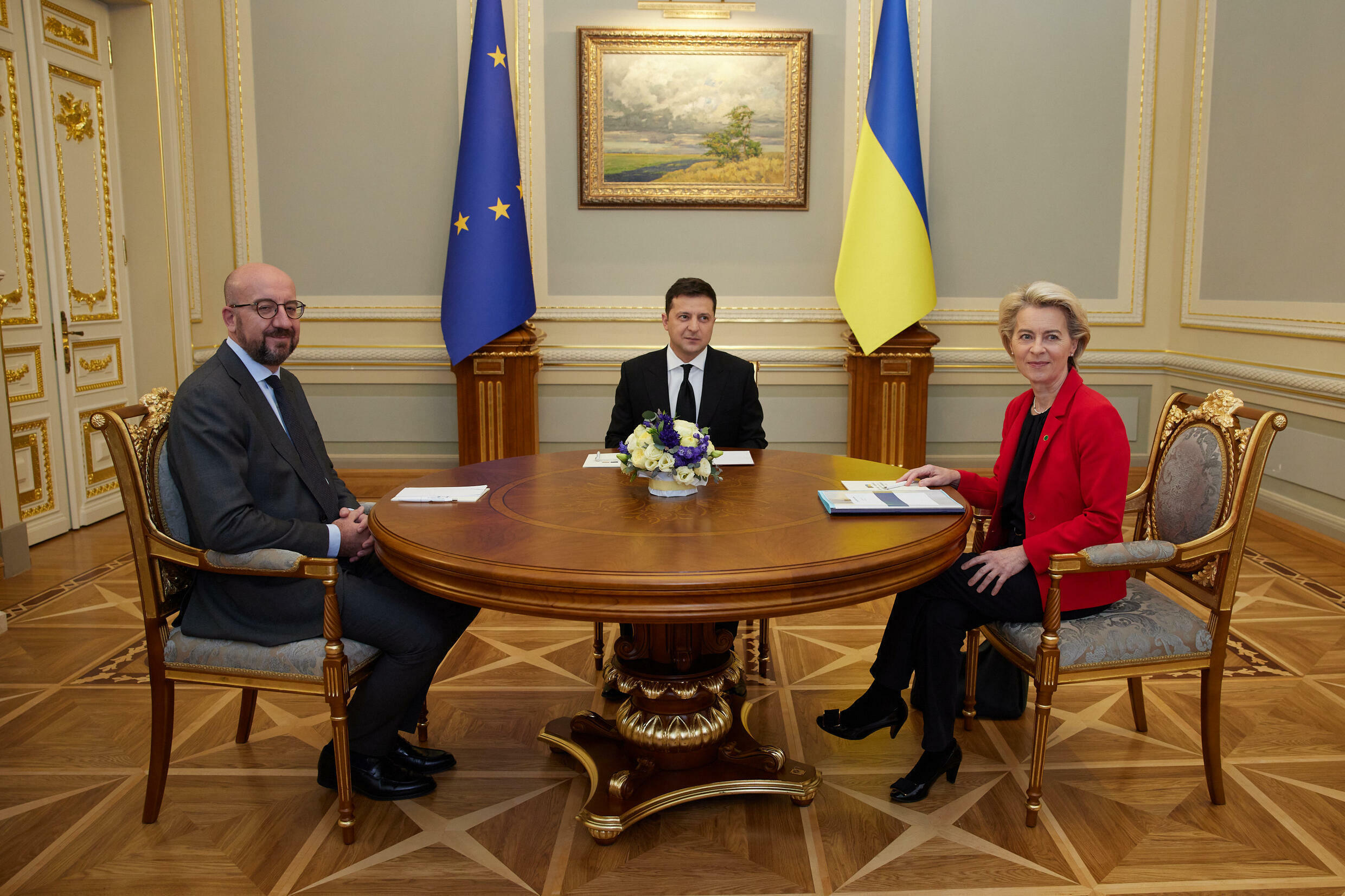 Ukrainian President Volodymyr Zelensky on Tuesday demanded more support from European leaders against Russia but came away from talks with few practical measures