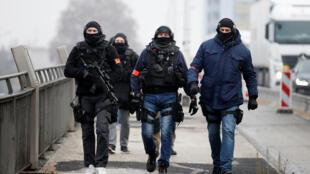 Cảnh sát đặc nhiệm Pháp được triển khai tại Strasbourg. Ảnh ngày 12/12/2018.