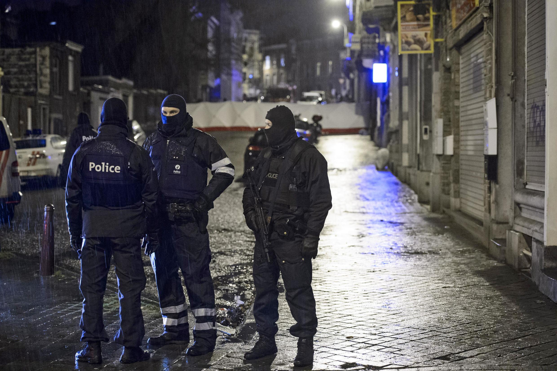 Cảnh sát Bỉ trong chiến dịch truy lùng khủng bố tại Verviers, ngoại ô Bruxelles, ngày 15/01/2015