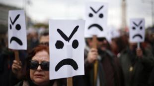Les manifestants ont exprimé leur mécontentement, samedi 2 mars 2013 au Portugal.