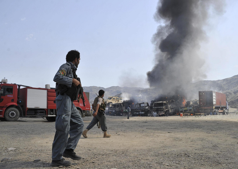 Wani wuri da aka fafata tsakanin dakarun Afghanistan da mayakan Taliban